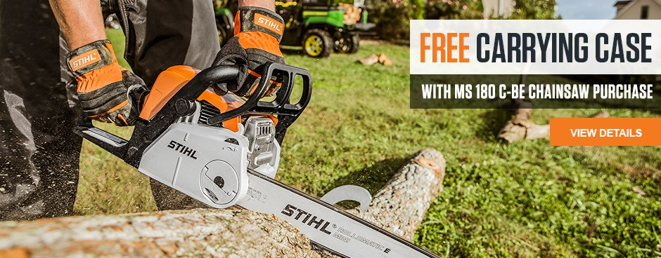 Free Carrying Case with MS 180 C-BE Chainsaw purchase!